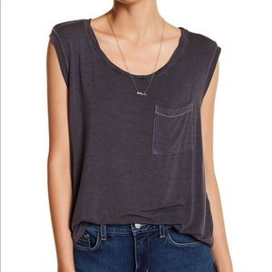 Melrose and Market Nordstrom Gray Pocket Tank